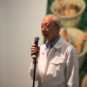 "10 Prof. Zhan Jianjun from CAFA President of the School of Oil Painting China National Academy of Painting who used to guide Yu Hong 290x290 - Yu Hong: Visiting a Garden, Walking from a Dream with a Start – The Realistic Painting that Transcends the ""Real"""