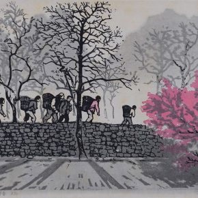"12 Liang Dong The Peach Blossom in a New Spring woodblock print 1963 collected by the Department of Printmaking CAFA 290x290 - ""From Woodcut to Printmaking"" CAFA Art Museum Fifth Round of the Collection Series is unveiled"