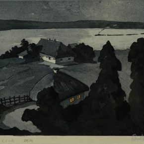 "14 Wu Biduan The Night of Ukraine etching 33.5 × 29 cm 1957 collected by CAFA Art Museum  290x290 - ""From Woodcut to Printmaking"" CAFA Art Museum Fifth Round of the Collection Series is unveiled"