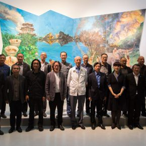 "15 The Group Photo of Honored Guests 290x290 - Yu Hong: Visiting a Garden, Walking from a Dream with a Start – The Realistic Painting that Transcends the ""Real"""