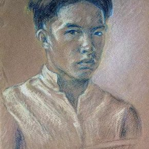 31-qin-xuanfu-self-portrait-no-1-pencil-and-pastel-on-paper-29-x-19-cm-1924