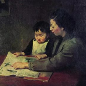 34-qin-xuanfu-mothers-teaching-oil-on-canvas-81-5-x-100-cm-1942