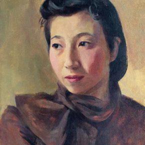 36-qin-xuanfu-portrait-of-my-wife-li-jiazhen-oil-on-canvas-45-5-x-35-cm-1941