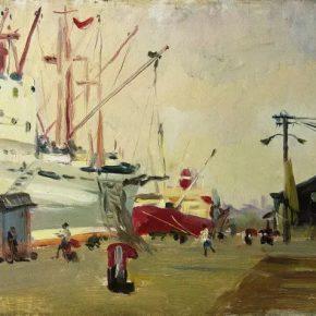 40-qin-xuanfu-shanghai-terminal-oil-on-canvas-35-x-45-cm-1961