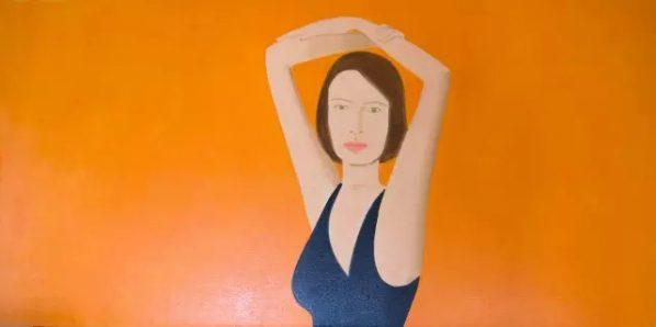 Alex Katz, Christy, 2015; Oil on linen, 121.9x243.8cm