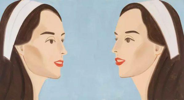Alex Katz, Double White Band(Vivien), 2013; Oil on linen, 182.9x335.3cm