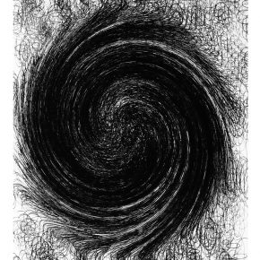 "Tony Brown When Circles Turn into Storm 2016 ink pen on paper 76x56cm 290x290 - YISHU 8 announces ""SCULPTER · DESSINER"" featuring works by Sui Jianguo and Tony Brown"