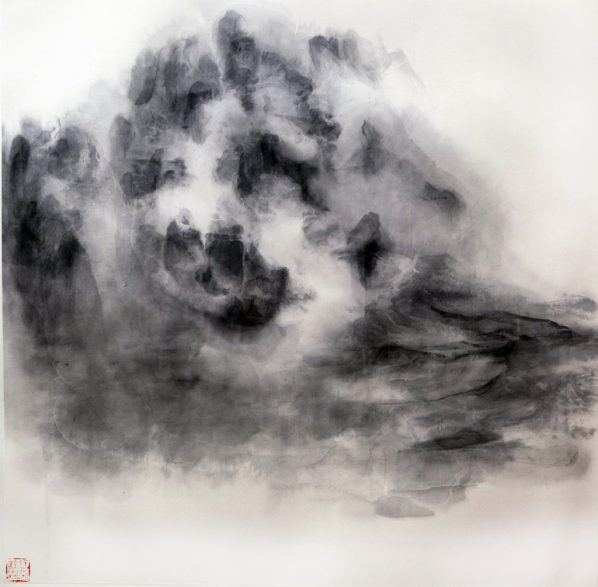 Xu Longsen, Cloud Series No. 2, 2015; Ink on paper, 122x122cm; Image Courtesy of the Artist