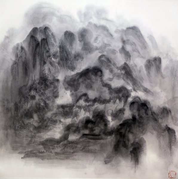 Xu Longsen, Cloud Series No. 5, 2015; Ink on paper, 122x122cm; Image Courtesy of the Artist