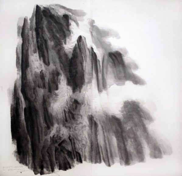 Xu Longsen, Poetic Spirit of Du Fu No. 2, 2010; Ink on paper, 150x147cm; Image Courtesy of the Artist