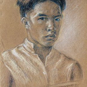 01-qin-xuanfu-self-portrait-no-1-pencil-and-pastel-on-paper-29-x-19-cm-1924