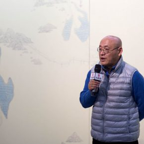 "02 Dean of the School of Chinese Painting CAFA Chen Ping delivered a speech 290x290 - A Series of Exhibition of Teaching, Creating and Researching: ""Blue Mountains and Ink Shoes – Exhibition of Sketching in Dali, Yunnan"" Opened"