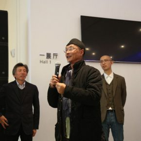 "02 Prof. Lv Shengzhong from the School of Experimental Art CAFA addressed the opening ceremony 290x290 - Traditional and Contemporary Chinese Art – A Discussion on the Solo Exhibition of Wu Jian'an Starting from ""Omens"""