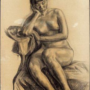 02-qin-xuanfu-a-female-model-paper-drawing-62-5-x-47-cm-1926