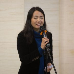 """04 Director of Collaborative Innovation Office of CAFA Yue Jieqiong hosted the opening ceremony 290x290 - """"Silk Road · Rock Color – Illustration of Chinese Rock-Color Painting"""" Opened at the Yan Huang Art Museum"""
