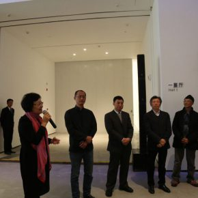 "05 Director of Beijing Minsheng Art Museum presided over the opening ceremony 290x290 - Traditional and Contemporary Chinese Art – A Discussion on the Solo Exhibition of Wu Jian'an Starting from ""Omens"""