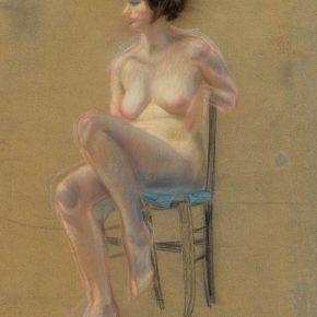 06 Qin Xuanfu A French Nude Women pastel on paper 64.5 × 50 cm 1932 290x290 - Qin Xuanfu
