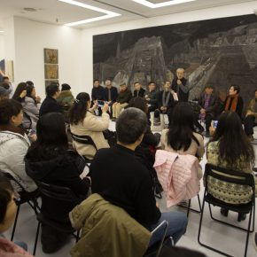 """08 View of the discussion 1 290x290 - """"Silk Road · Rock Color – Illustration of Chinese Rock-Color Painting"""" Opened at the Yan Huang Art Museum"""