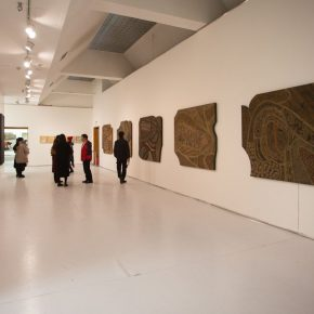 """09 Exhibition view of """"Silk Road · Rock Color"""" 290x290 - """"Silk Road · Rock Color – Illustration of Chinese Rock-Color Painting"""" Opened at the Yan Huang Art Museum"""
