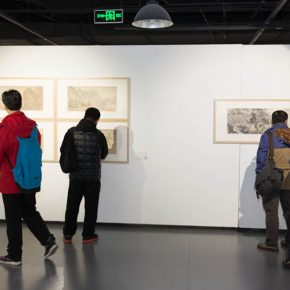 "09 Installation view of the exhibition 290x290 - A Series of Exhibition of Teaching, Creating and Researching: ""Blue Mountains and Ink Shoes – Exhibition of Sketching in Dali, Yunnan"" Opened"