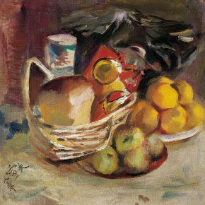 108-qin-xuanfu-still-life-fruit-oil-on-canvas-41-x-41-cm-1983