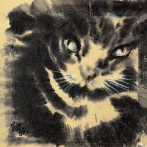 109-qin-xuanfu-home-tiger-monoprint-22-x-21-cm-1980