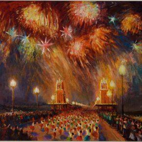 111 Qin Xuanfu Bridge Fireworks oil on canvas 82 x 120 cm 1981 290x290 - Qin Xuanfu