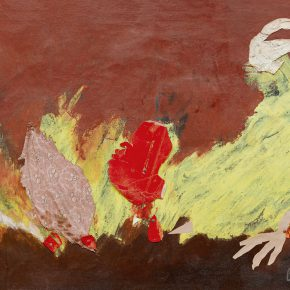 112 Qin Xuanfu A Big Cock oil on canvas oil and mixed material on canvas 91 × 122 cm 1985 290x290 - Qin Xuanfu