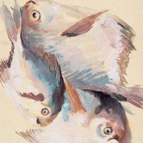 113-qin-xuanfu-pampus-argenteus-watercolor-on-paper-37-5-cm-x-26-7-cm-1985