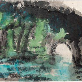 118-qin-xuanfu-guilin-elephant-trunk-hill-gouache-on-paper-32-5-x-47-5-cm-1984