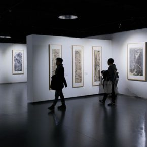 "12 Installation view of the exhibition 290x290 - A Series of Exhibition of Teaching, Creating and Researching: ""Blue Mountains and Ink Shoes – Exhibition of Sketching in Dali, Yunnan"" Opened"
