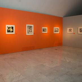 """13 Exhibition view of """"The Exhibition of Prints Donated by Tan Quanshu""""  290x290 - """"An Exhibition of Prints donated by Tan Quanshu"""" commenced: Leading People to """"Take the Straight Road"""" of Art"""