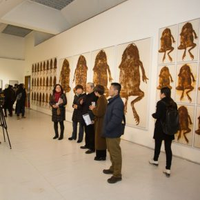 """15 Exhibition view of """"Silk Road · Rock Color"""" 290x290 - """"Silk Road · Rock Color – Illustration of Chinese Rock-Color Painting"""" Opened at the Yan Huang Art Museum"""
