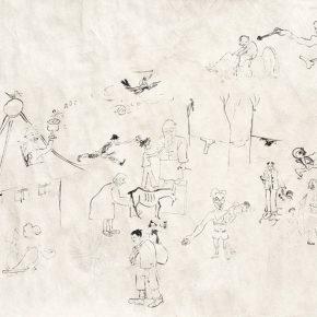 15 Qin Xuanfu The Life of the Painters of the Phoenix Mountain paper drawing 75 × 105 cm 1946 290x290 - Qin Xuanfu