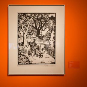 """16 Exhibition view of """"The Exhibition of Prints Donated by Tan Quanshu""""  290x290 - """"An Exhibition of Prints donated by Tan Quanshu"""" commenced: Leading People to """"Take the Straight Road"""" of Art"""