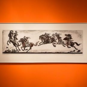 """18 Exhibition view of """"The Exhibition of Prints Donated by Tan Quanshu""""  290x290 - """"An Exhibition of Prints donated by Tan Quanshu"""" commenced: Leading People to """"Take the Straight Road"""" of Art"""