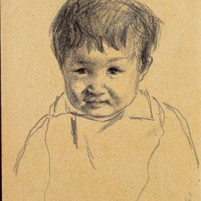 20-qin-xuanfu-the-girl-called-ningsheng-paper-drawing-39-x-27-cm-1942