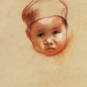 21-qin-xuanfu-a-girl-wearing-a-hat-pastel-on-paper-31-x-23-cm-1941