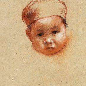 21 Qin Xuanfu A Girl Wearing a Hat pastel on paper 31 × 23 cm 1941 290x290 - Qin Xuanfu