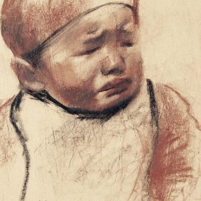 22-qin-xuanfu-a-child-paper-drawing-23-x-19-cm-1942