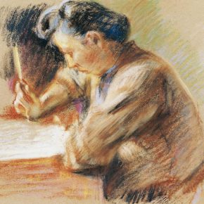 24-qin-xuanfu-under-the-lamp-portrait-of-li-jiazhen-pastel-on-paper-28-x-39-5-cm-1945-in-the-collection-of-cafa-art-museum