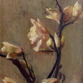 26 Qin Xuanfu Magnolia oil on canvas 40 × 27 cm 1942 290x290 - Qin Xuanfu
