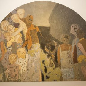 """27 The exhibited work 1 290x290 - """"Silk Road · Rock Color – Illustration of Chinese Rock-Color Painting"""" Opened at the Yan Huang Art Museum"""