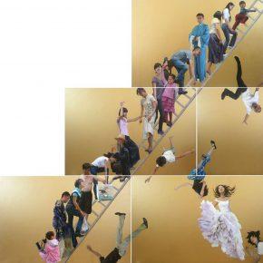 27 Yu Hong Ladder to the Sky acrylic on canvas 600 × 600 cm 2008 290x290 - Yu Hong