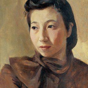 29-qin-xuanfu-portrait-of-my-wife-li-jiazhen-oil-on-canvas-45-5-x-35-cm-1941