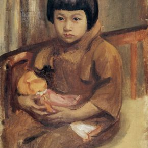 30 Qin Xuanfu The Girl With a Doll oil on canvas 54 × 45 cm 1941  290x290 - Qin Xuanfu