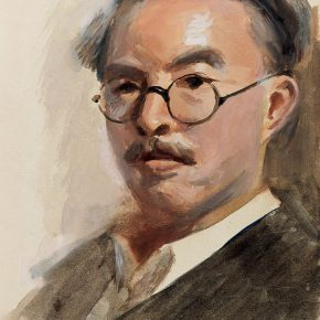 31 Qin Xuanfu Self Portrait No.1 gouache on paper 54 × 39.5 cm 1954 in the collection of National Art Museum of China  290x290 - Qin Xuanfu
