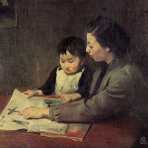 33-qin-xuanfu-mothers-teaching-oil-on-canvas-81-5-x-100-cm-1942
