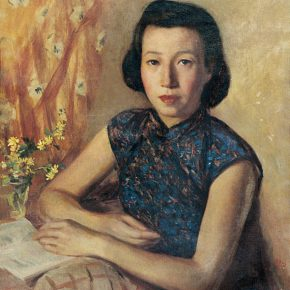 34-qin-xuanfu-portrait-of-my-wife-oil-on-canvas-66-x-54-cm-1945