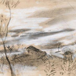 36 Qin Xuanfu Landscape of the Phoenix Mountain paper drawing 26 × 34 cm 1941 290x290 - Qin Xuanfu